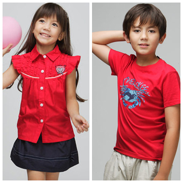 Owen and Ella modeling for American clothing brand - Cherokee